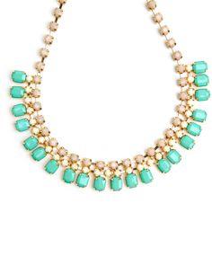 Celebration Necklace in mint + gold