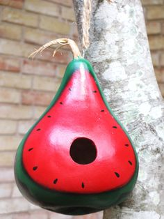 Watermelon Gourd BirdhouseHandpainted by KaoriKreations on Etsy, $22.00
