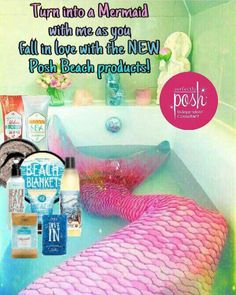 Mermaids need pampering, too! Try out the new Spring/Summer 2017 beachy Posh products! Body scrubs, body washes, bath salts, big bath bars, hair care and much more! Shop Posh https://PoshCarrie.po.sh anytime!!