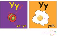 ABC Full Color Learning Cards | Coloring Pages Y