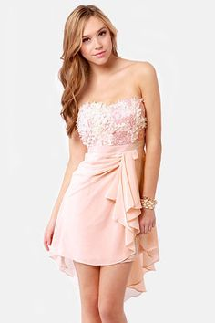 plusandcute.com pink-strapless-dress-06 #cuteclothes