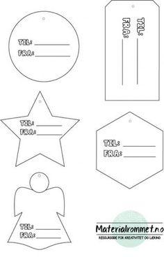 GRATIS nedlastbare TIL OG FRA-lapper.Print og bruk til din gruppe. Anbefaler å printe på litt tegnepapir eller tykkere papir.