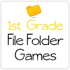 Free Printable Learning Games for Kids! Preschool, Kindergarten, First Grade, Second Grade, and Third Grade Learning Centers. Hands-on-Homeschooling with File Folder Games First Grade Reading Games, First Grade Phonics, 1st Grade Writing, 1st Grade Math, Grade 1, Third Grade, Folder Games For Toddlers, File Folder Activities, Learning Games For Kids