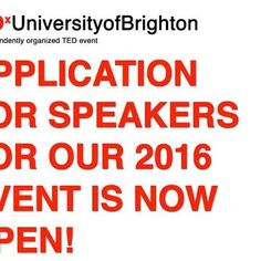 TEDx University of Brighton is now recruiting speakers for our Serendipity themed event.  If you have an idea worth spreading, visit our website for more instructions on how to apply! http://www.tedxuniversityofbrighton.co.uk/SPEAKERS.html