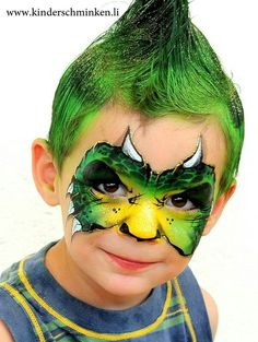 dino face painting for boys