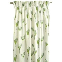 This is a lovely curtain with lily of the valley motif in printed fabric from Boel