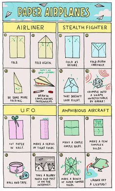 ...b/c you should always learn how to make paper airplanes to relieve boredom in the classroom, right? :)