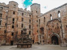 Linlithgow Palace Outlander locations Scotland Road Trip, Scotland Tours, Scotland Travel, Carlisle Castle, Outlander Locations, Wentworth Prison, Edinburgh City, Fort William, Barcelona Cathedral