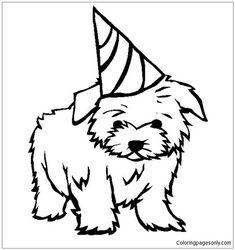 Printable Puppy Coloring Pages Ideas. It seem you have decided to take puppy coloring pages ideas for today. Who doesn't love Puppy? a cute and charming puppy c Super Coloring Pages, Dog Coloring Page, Coloring Pages For Girls, Animal Coloring Pages, Coloring Pages To Print, Printable Coloring Pages, Coloring For Kids, Coloring Sheets, Ninjago Coloring Pages