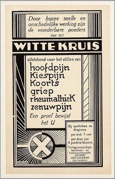 Witte kruis poeders Vintage Advertising Posters, Advertising Signs, Vintage Advertisements, Vintage Posters, Ads, Vintage Wall Art, Retro Vintage, Holland, Amsterdam