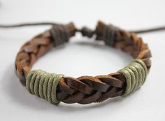 Woven leather bracelet for men #MensJewelry #MensBraceletIdeas