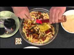 Receita Minuto: Salada de Macarrão Colorida: Dia a Dia com o Jurandir