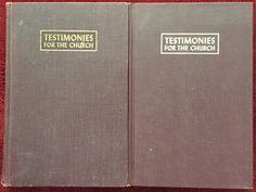 Ellen G White Duo: Testimonies for the Church Volumes 1 and 2 SDA EGW Books