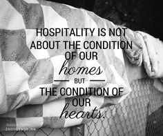 Twice in the past two weeks, I have been reminded of the importance of hospitality and community. The irony is I'm nine months pregnant. ...
