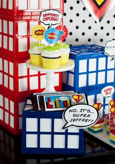 Vintage Comic Book Style Super Hero Birthday Party {On A Budget!!} : Anders Ruff Custom Designs :