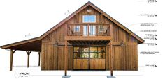 Barndominium the denali barn with apartment 24 barn pros for Complete barn home kits