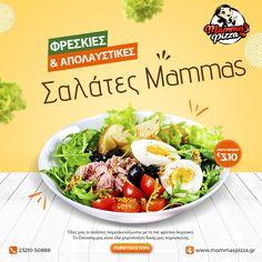 και όλα τα dressings χειροποίητα,σίγουρα θα γίνουν οι αγαπημένες σου‼️ Παράγγειλε την αγαπημένη σου,η φτιάξε τη δική σου σαλάτα στο 👉 www.mammaspizza.gr #serres #salads #pizza #mammaspizza #onlinedelivery Cobb Salad, Pizza, Food, Essen, Meals, Yemek, Eten