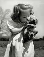 vintage pet photos. #baby&puppy