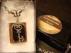 Victorian Style Heart Key Book Locket Necklace   by ClockworkAlley, $23.00
