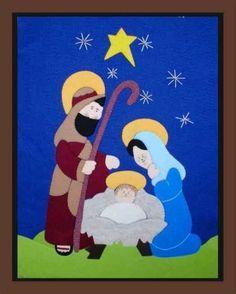 Sagrada Familia Navideño Quilling Christmas, Christmas Art, Christmas Decorations, Xmas, Christmas Ornaments, Nativity Ornaments, Felt Ornaments, Dot Painting, Painting Patterns
