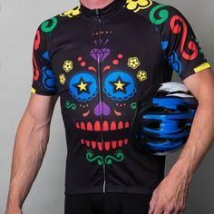 Mens multi coloured sugar skull jersey