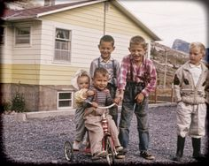 Kids with Old Tricycle