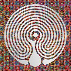 Labyrinth Art - A Baltic Wheel style labyrinth Labyrinth Garden, Labyrinth Maze, Farnsworth House, Cymru, Source Of Inspiration, Art Therapy, Sacred Geometry, Tatoos, Meditation