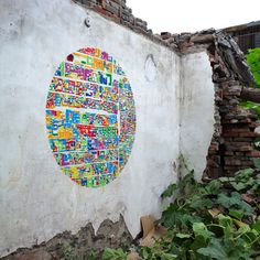"""Marcella Campa and Stefano Avesani, Blinking City, """"Map"""" of neighborhoods in Beijing Graffiti Art, Stencil Art, Stencils, Beautiful Graffiti, Map Projects, Group Projects, Garden Projects, What's My Favorite Color, Outdoor Art"""