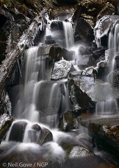 Lairig Ghru water in Cairngorms National Park, Scotland Cairngorms National Park, Four Seasons, Scotland, Waterfall, National Parks, Scenery, Europe, Drawings, Photography