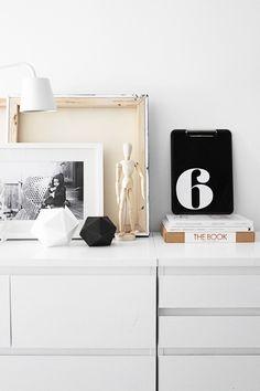 black, white and neutral interior design #homedecor #minimal #interiordesign #swedish