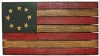 Primitive Slat Board Flag Plaque - I have this! I can't wait to put it out this summer.