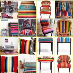 Mexican Serape on everything!
