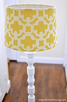 Lamp Makeover {Ugly to Lovely} - Its Overflowing | Decor Ideas - DIY Projects - Photography Tutorials