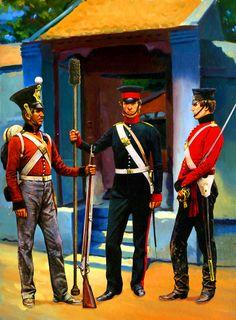 British Foot and Madras Foot Artillery, China 1841 Military Service, Military Art, Military History, Military Uniforms, Colonial India, British Colonial, Boxer Rebellion, British Uniforms, Crimean War