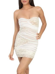 Lace Mesh Tube Dress from ArdenB.com. This dress is sooo unique!