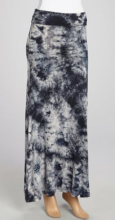 Black Tie-Dye Maxi Skirt. I have a skirt that's awfully similar to this just blue instead of black