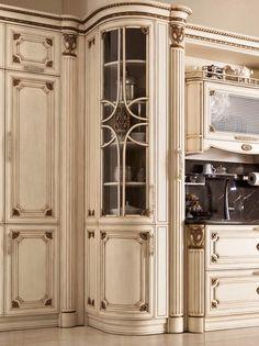 Cucina di lusso vetrina ad angolo