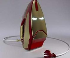 Iron Man Iron- Still just a concept, but man would this thing iron out your problems. :D Love it!