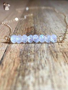 Dainty Moonstone Crystal Necklace - Wedding nacklaces (*Amazon Partner-Link)