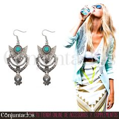 Descubre nuestra chulísima selección de #pendientes de #estilo #boho-chic ★ 12,95 € en https://www.conjuntados.com/es/pendientes/pendientes-largos/pendientes-arlet-en-plateado-y-turquesa.html ★ #novedades #pendientes #earrings #conjuntados #conjuntada #joyitas #lowcost #jewelry #bisutería #bijoux #accesorios #complementos #moda #fashion #fashionadicct #picoftheday #outfit #estilo #style #GustosParaTodas #ParaTodosLosGustos