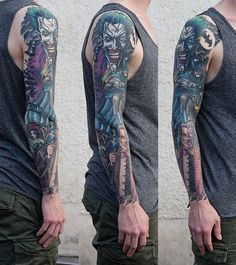 Full Sleeve Tattoo - 80 Awesome Examples of Full Sleeve Tattoo Ideas | Art and Design