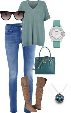 """Teal"" by thunt8702 on Polyvore"