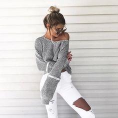 Knit + Jeans