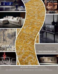 Contemporary Trends In Rugs & Furniture! www.rugsbyzhaleh.com Rugs by Zhaleh - Miami