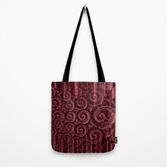 Maroon Decoration #2 Tote Bag by Moonshine Paradise #society6 #maroon #pattern #bag #totebag