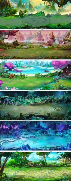 """Résultat de recherche d'images pour """"colored environment concept art"""""""