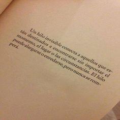 Frases De Libros Un Hilo Invisible