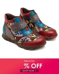 17b01846bc SOCOFY Sooo Comfy Genuine Leather Hook Loop Flat Boots Flat Boots, Shoe  Boots, Clogs