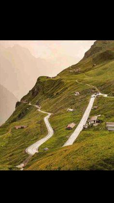 Klausen Pass-Alp Mountains-Switzerland