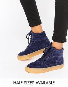 ASOS+DUKE+Lace+Up+High+Top+Trainers